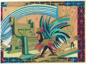 Fortunato Depero (1892-1960), Bozzetto per il calendario Braibanti,1952 (Parma, Archivio Storico Barilla)