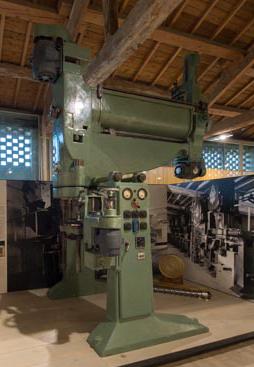 La pressa continua Braibanti del 1942 esposta al Museo della Pasta