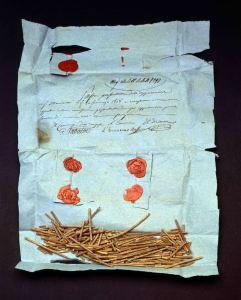 Campione Di Pasta Del 1838 Contestato Al Fornitore (Parma, Archivio Di Stato)