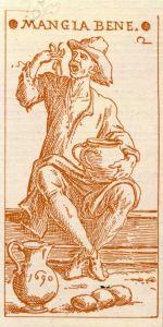 Mangia Bene, incisione, 1690