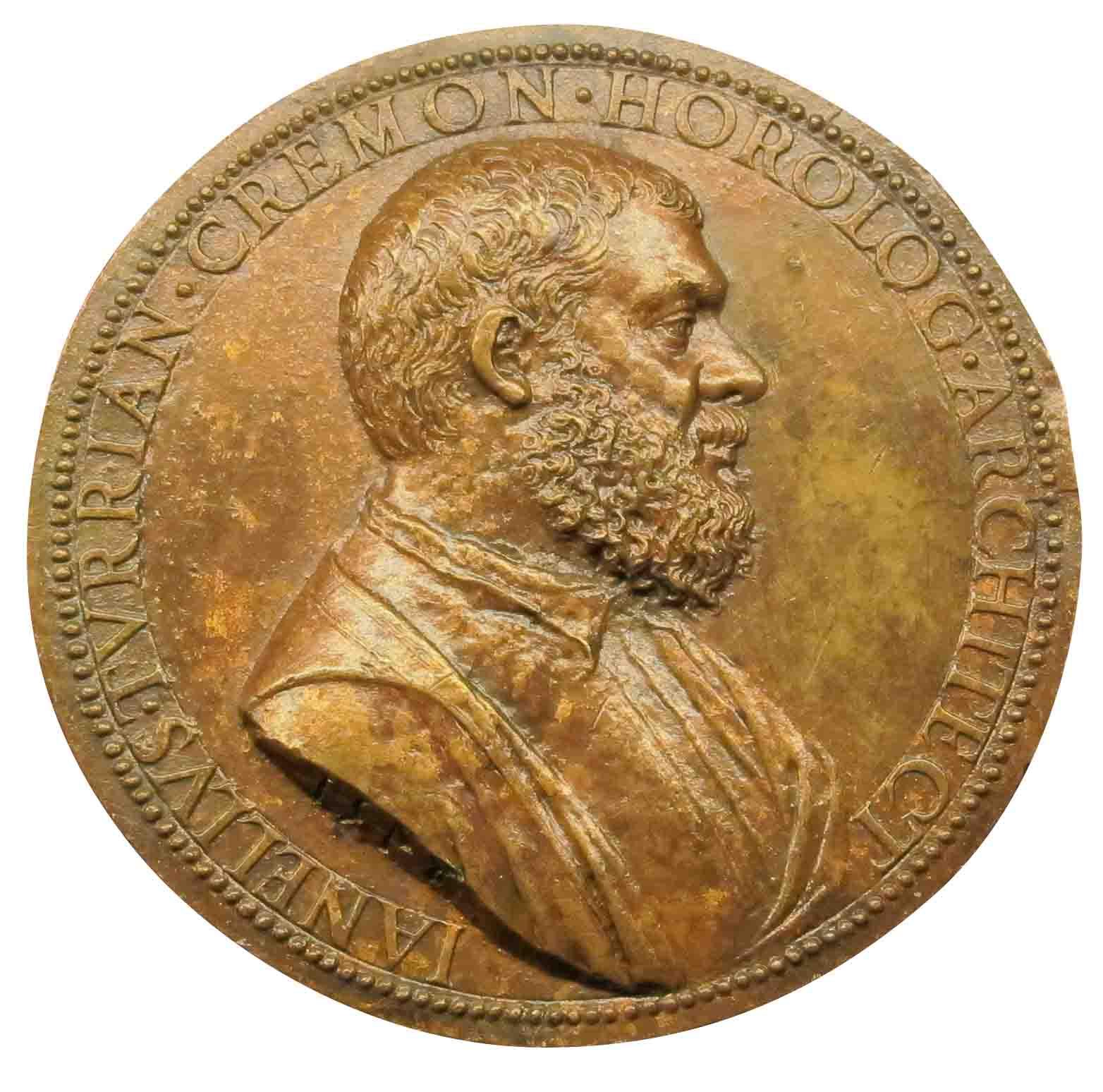 Jacopo Nizzola da Trezzo (1515-1589), medaglia di Janello Torriani o Giannello della Torre,1550-'52 (Cremona, Museo Civico Ala Ponzone)