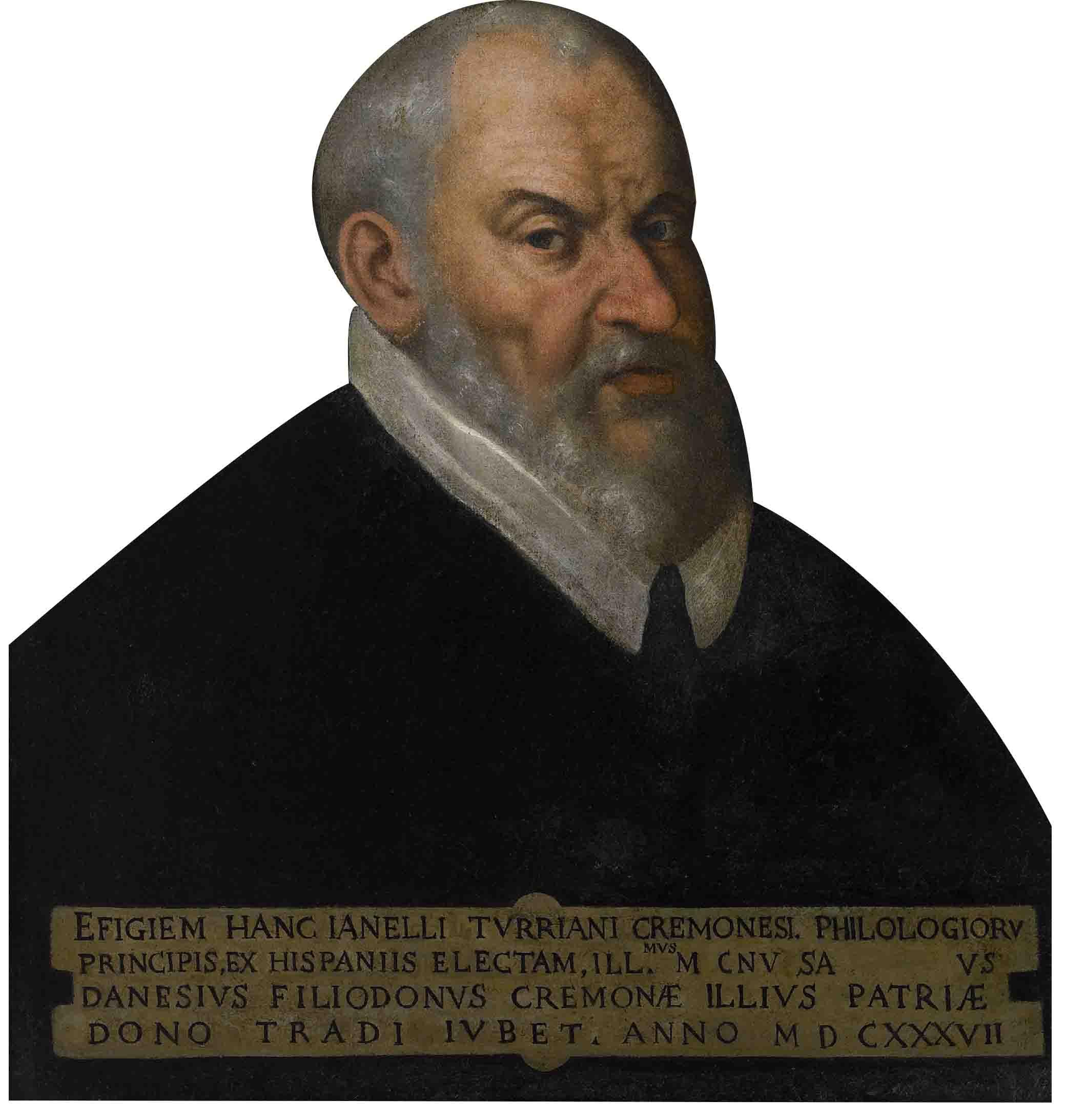 Pittore spagnolo dell'ultimo quarto del Cinquecento, ritratto di Gianello Torriani (Cremona, Museo Civico Ala Ponzone)