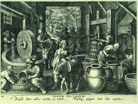 Giovanni Stradano (1523-1605), frantoio per le olive, acquaforte, XVI sec.